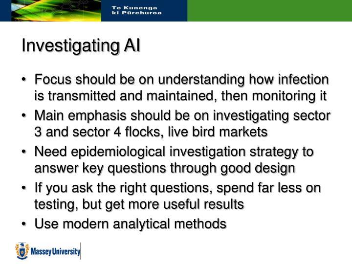 Investigating AI