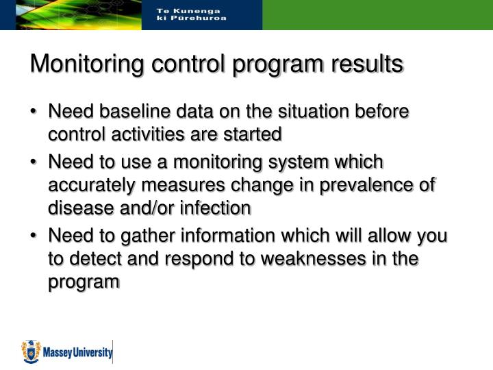 Monitoring control program results