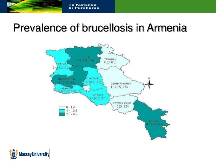 Prevalence of brucellosis in Armenia