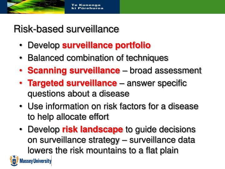 Risk-based surveillance