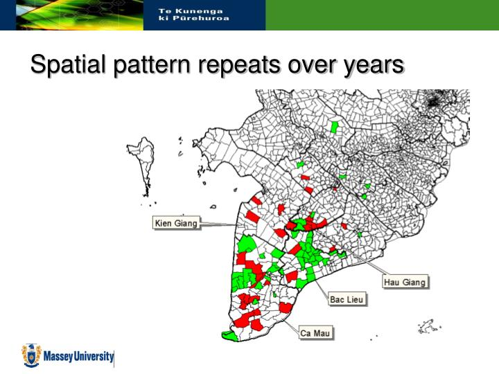 Spatial pattern repeats over years
