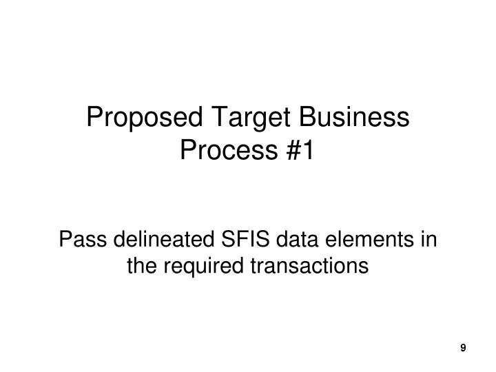 Proposed Target Business Process #1
