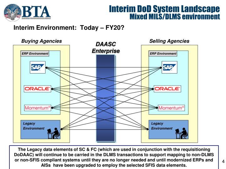 Interim DoD System Landscape