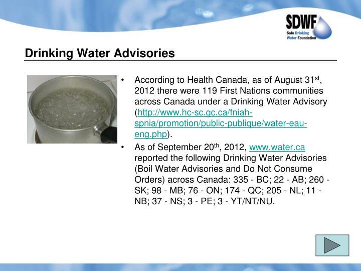 Drinking Water Advisories