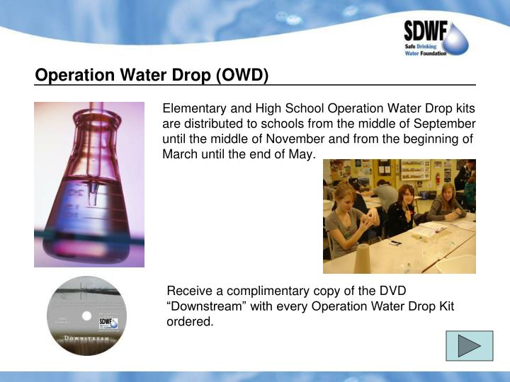 Operation Water Drop (OWD)