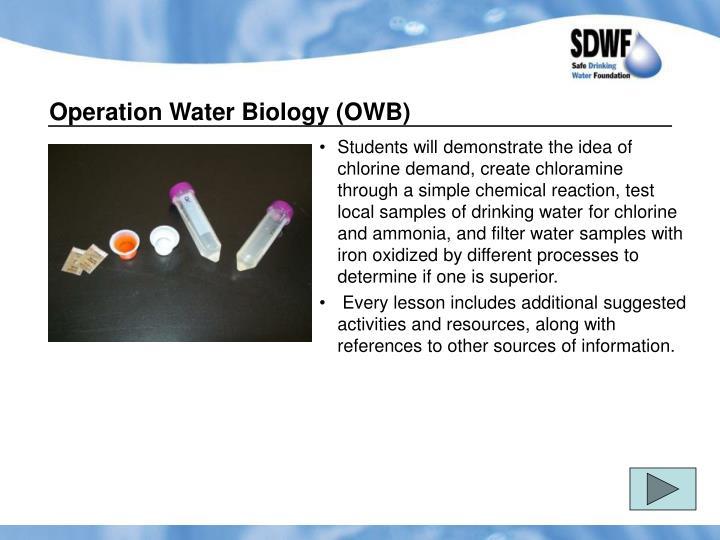 Operation Water Biology (OWB)