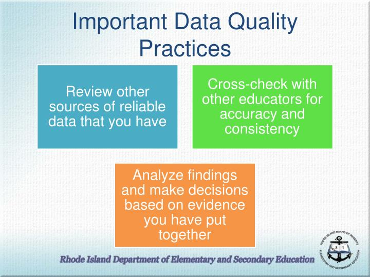 Important Data Quality Practices