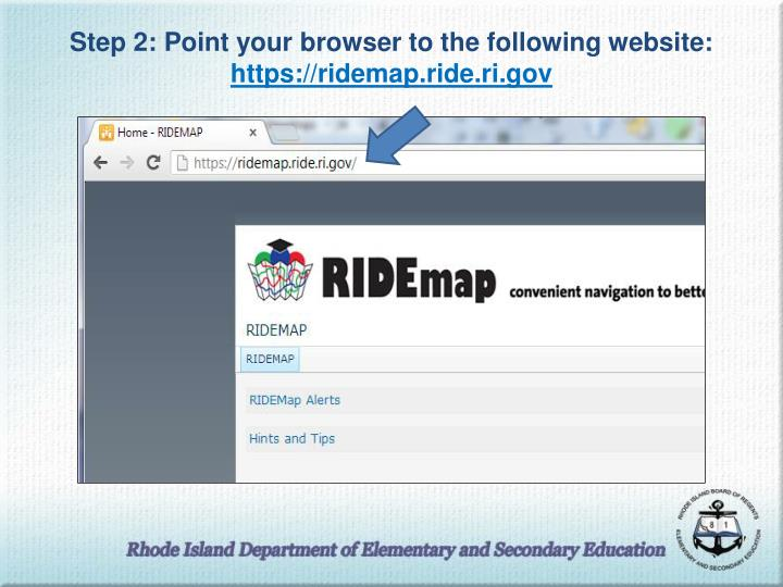 Step 2: Point your browser to the following website: