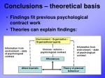 conclusions theoretical basis