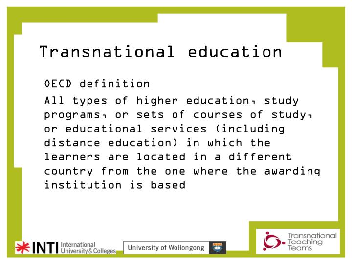 Transnational education