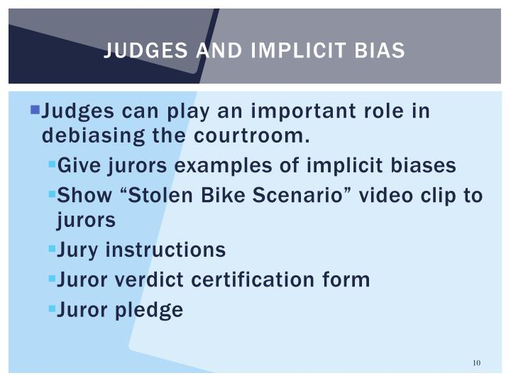 Judges and implicit bias