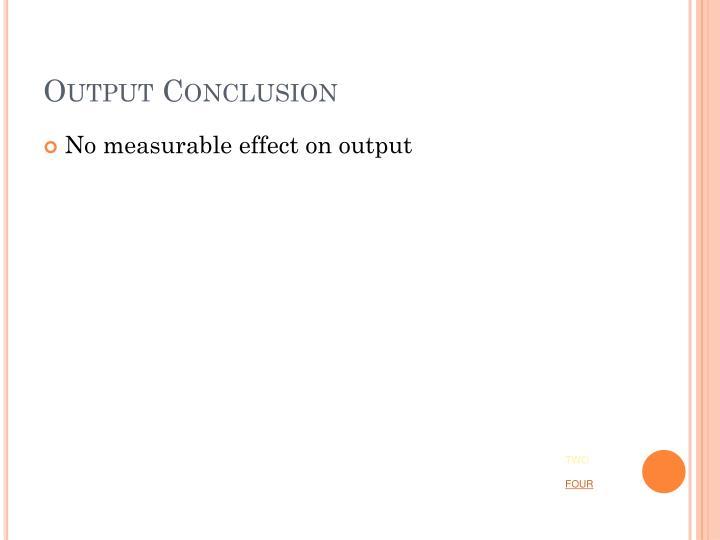 Output Conclusion