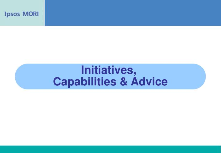 Initiatives,