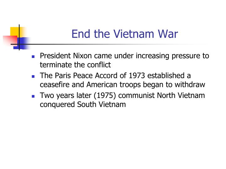 End the Vietnam War