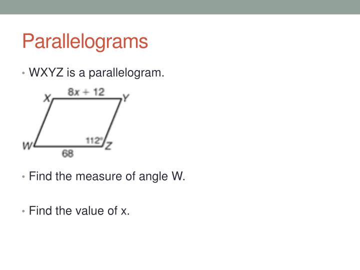 Parallelograms