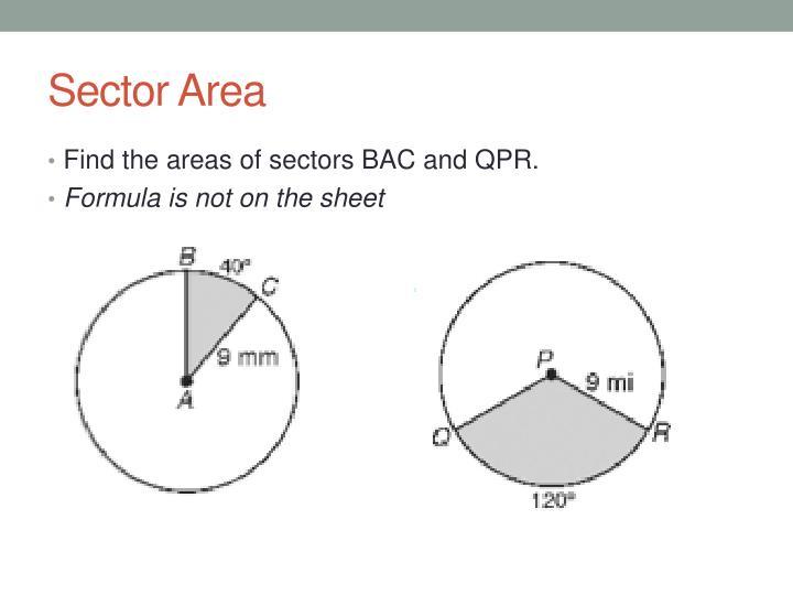 Sector Area