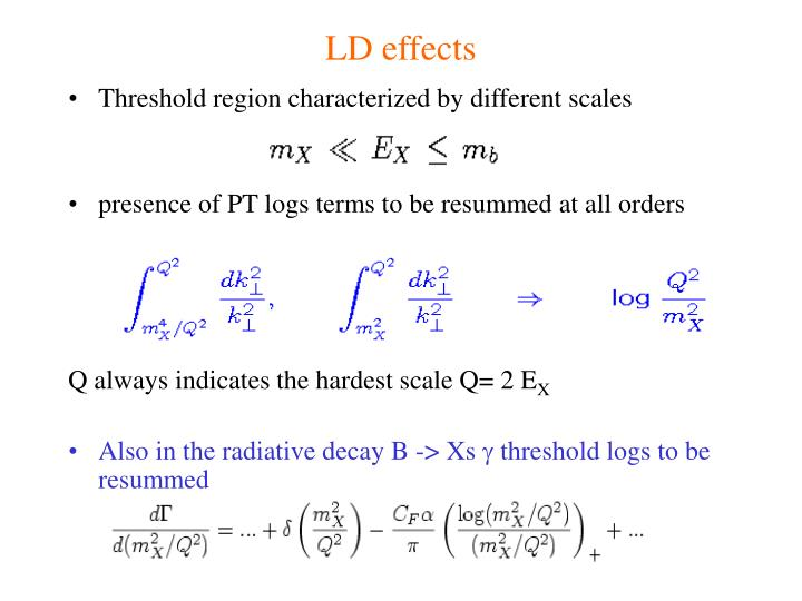 LD effects