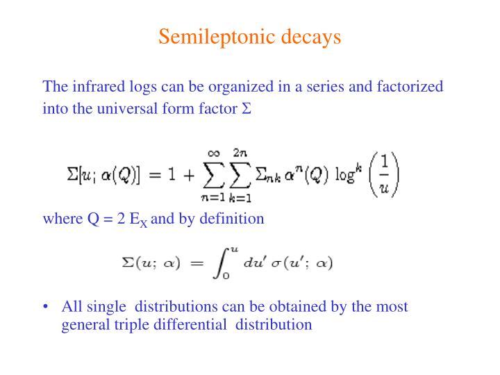 Semileptonic decays