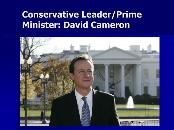 Conservative Leader/Prime Minister: David Cameron