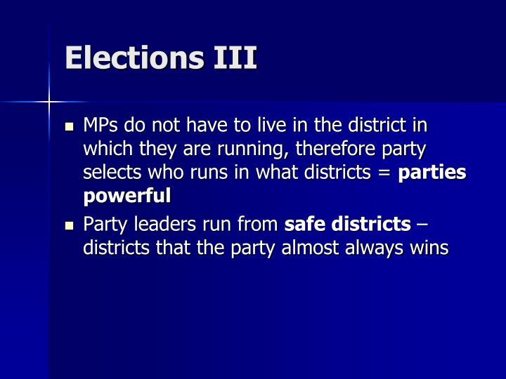 Elections III