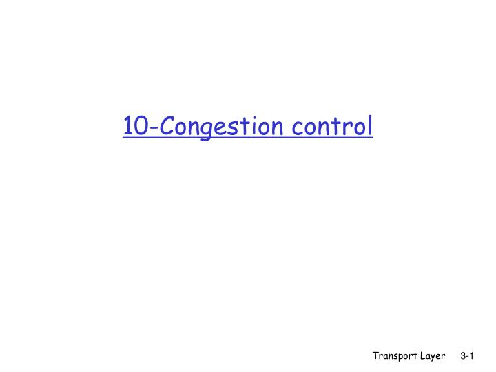 10 congestion control