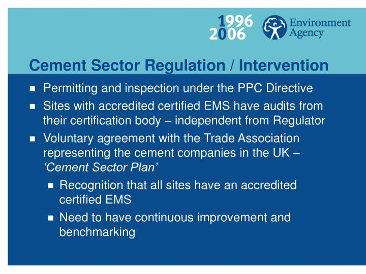 Cement Sector Regulation / Intervention