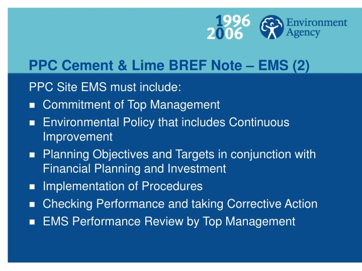 PPC Cement & Lime BREF Note – EMS (2)