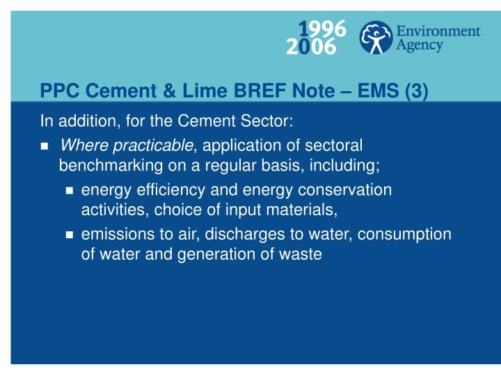 PPC Cement & Lime BREF Note – EMS (3)