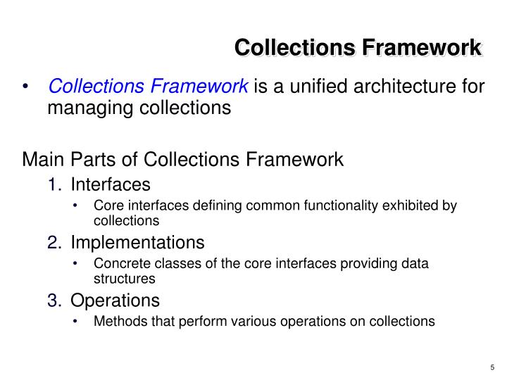 Collections Framework