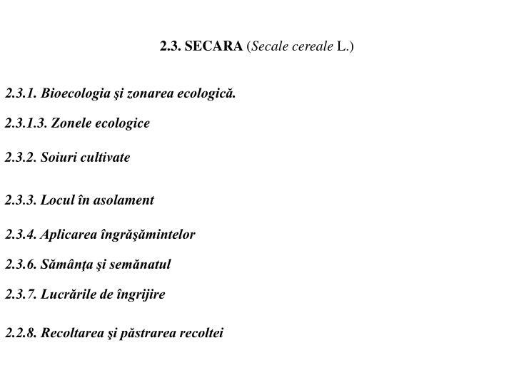 2.3. SECARA