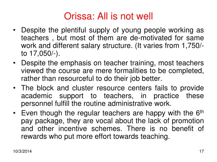 Orissa: All is not well