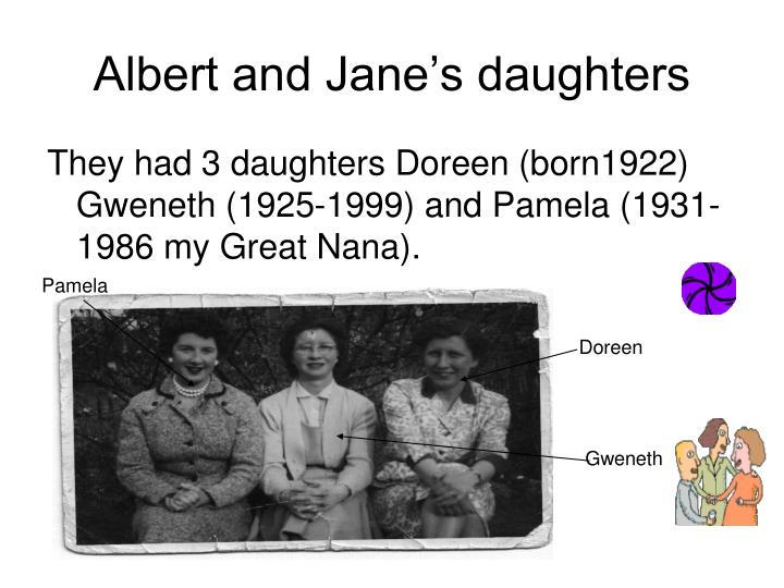 Albert and Jane's daughters