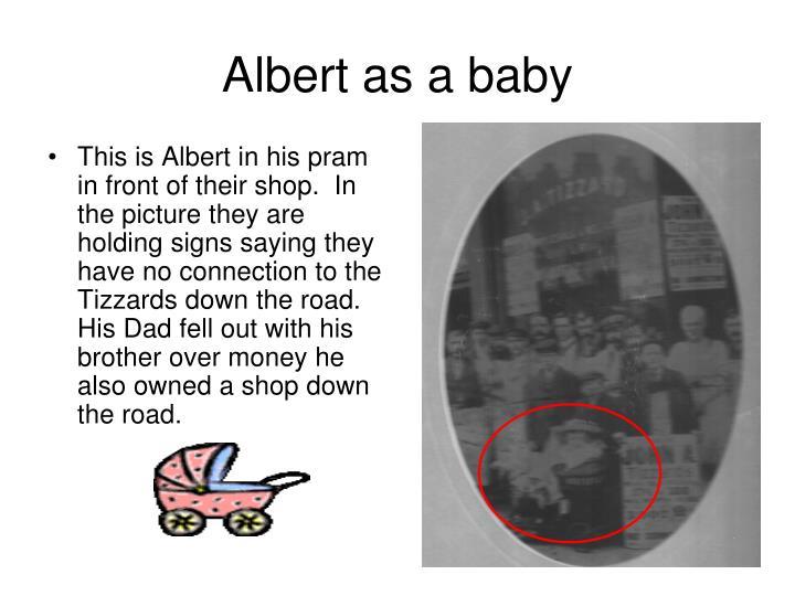 Albert as a baby