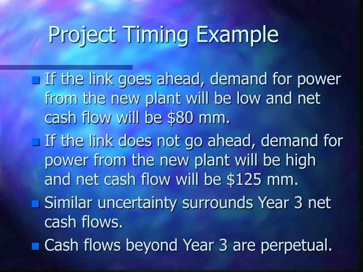 Project Timing Example