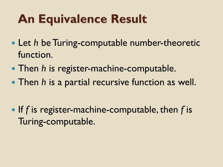 An Equivalence Result