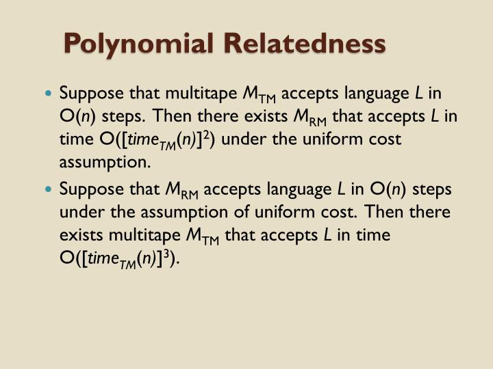 Polynomial Relatedness