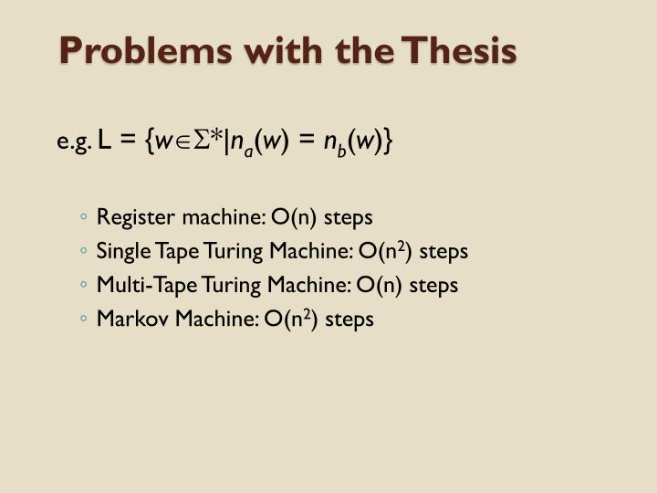 Problems with the Thesis