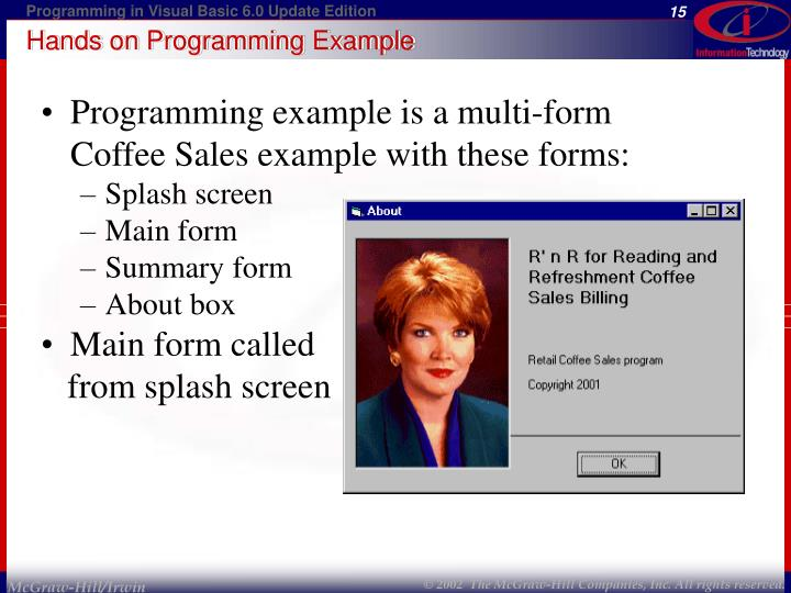 Hands on Programming Example