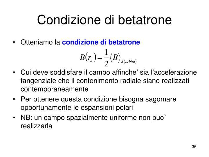 Condizione di betatrone