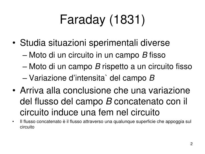 Faraday (1831)