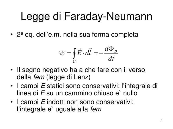 Legge di Faraday-Neumann