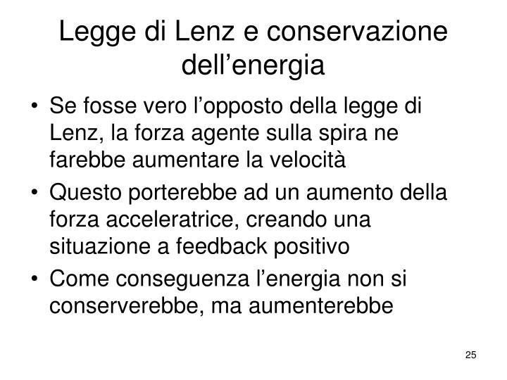 Legge di Lenz e conservazione dell'energia