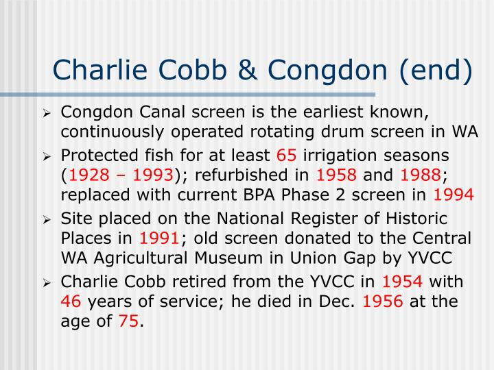 Charlie Cobb & Congdon (end)