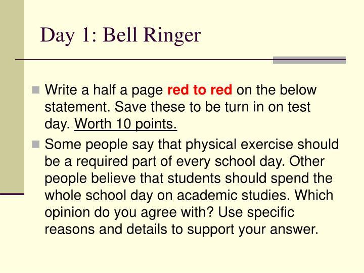 Day 1: Bell Ringer