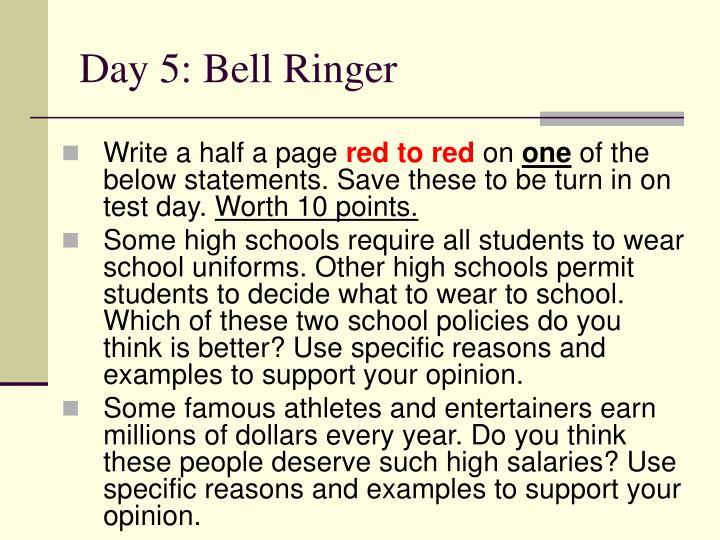 Day 5: Bell Ringer