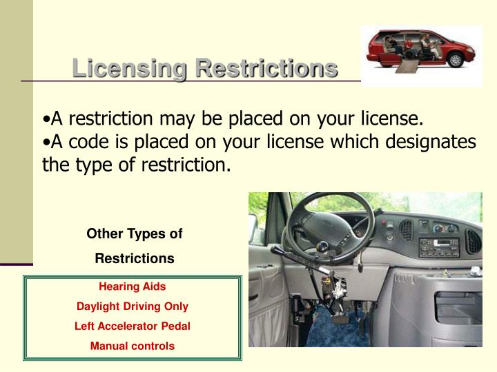 Licensing Restrictions