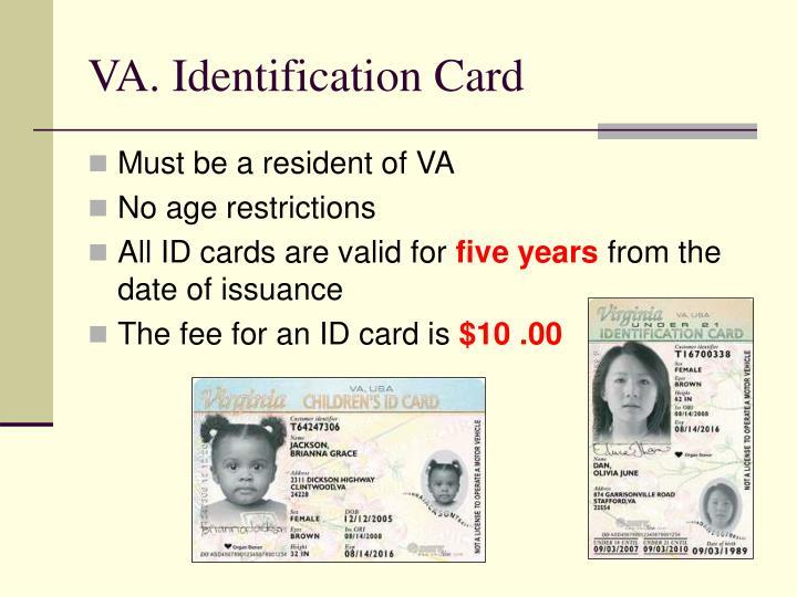 VA. Identification Card