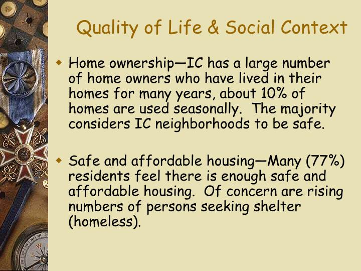 Quality of Life & Social Context