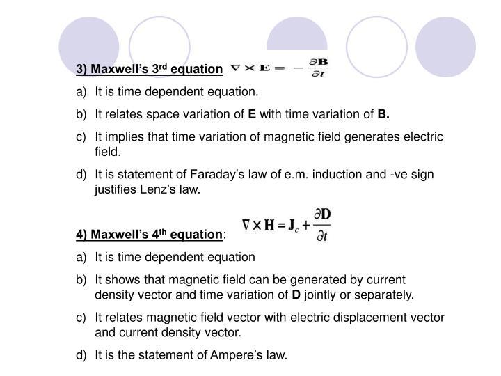 3) Maxwell's 3