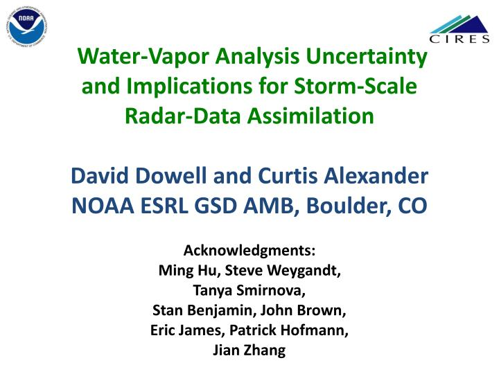 Water-Vapor Analysis Uncertainty